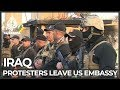 Protesters leave US embassy compound in Baghdad